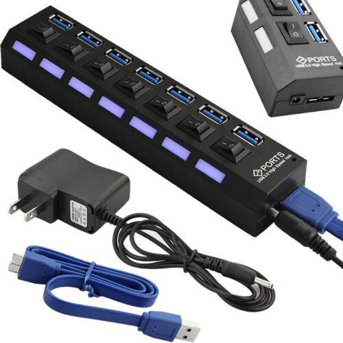 4 Port USB 3.0 High Speed Multi HUB Splitter Expansion adapter For Laptop PC