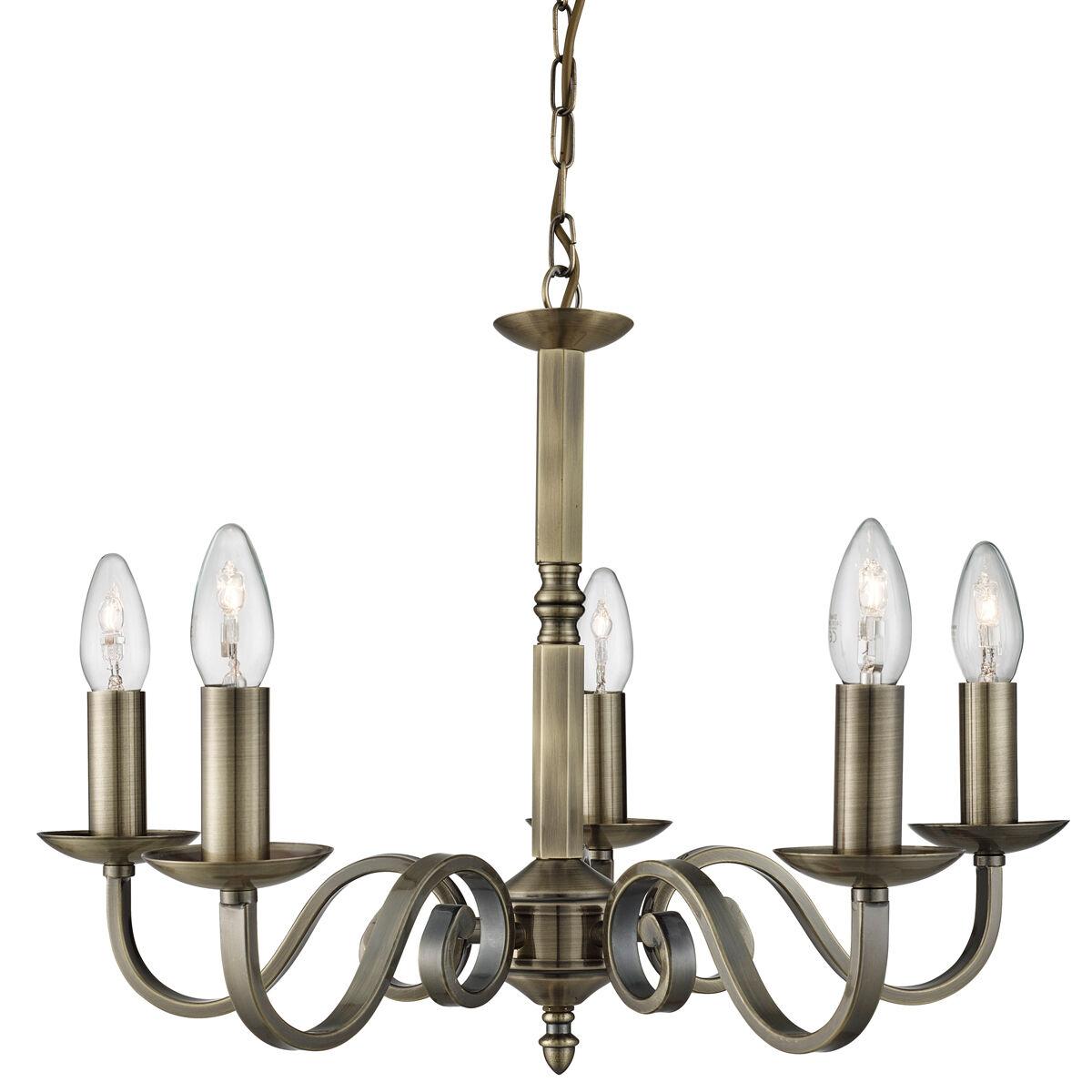 Projecteur 1505-5ab Richmond Laiton Antique 5 5 5 light candle sconce Lustre | De Nouveau Modèle  0731d3