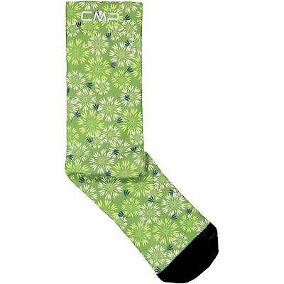 Prezzo Più Basso Con Cmp Calzini Sportivi Printed Trekking Sock Verde Chiaro Traspirante Leggero Motivo Floreale-mostra Il Titolo Originale