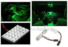 2x T10 & Festoon Universal 24 SMD Neon Green LED Panel Interior Dome Map Light