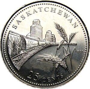 1992-Canada-125th-Saskatchewan-25-Cents-Gem-BU-UNC-Quarter