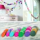 Home Round Heart Hanging Paper Garland String Wedding Party Birthday Decor Great