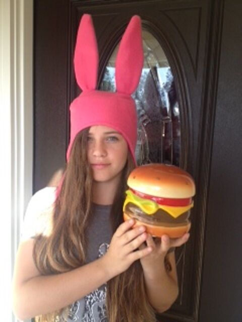 BOB'S BURGERS LOUISE BELCHER HAT - PINK BUNNY EAR HAT - SIZES: SMALL, MED & LGE