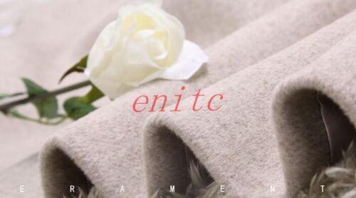 Manteau Long Chic Parka Femmes Revers Mode Outwear En Manteau Laine Mélangée pawp4XqYv