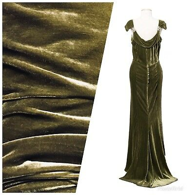 SALE Designer Antique Mint Green Silk Rayon Velvet Fabric By the yard