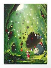 Mi vecino Totoro Studio Ghibli Art Print póster de Roberto Nieto NT Mondo