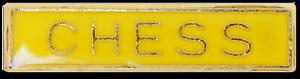 Chess Bar Pin Badge in Yellow Enamel