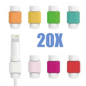 20 X Usb Data Charger Cable Saver Protector For Iphone 5