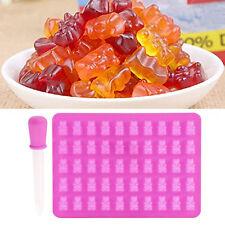 50 Gummy Maker Hohlraum Bär Form Silikon Schokolade Süßigkeiten Mold Eis Tray