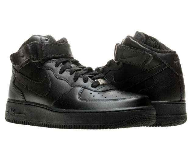 all black air force 1 mid
