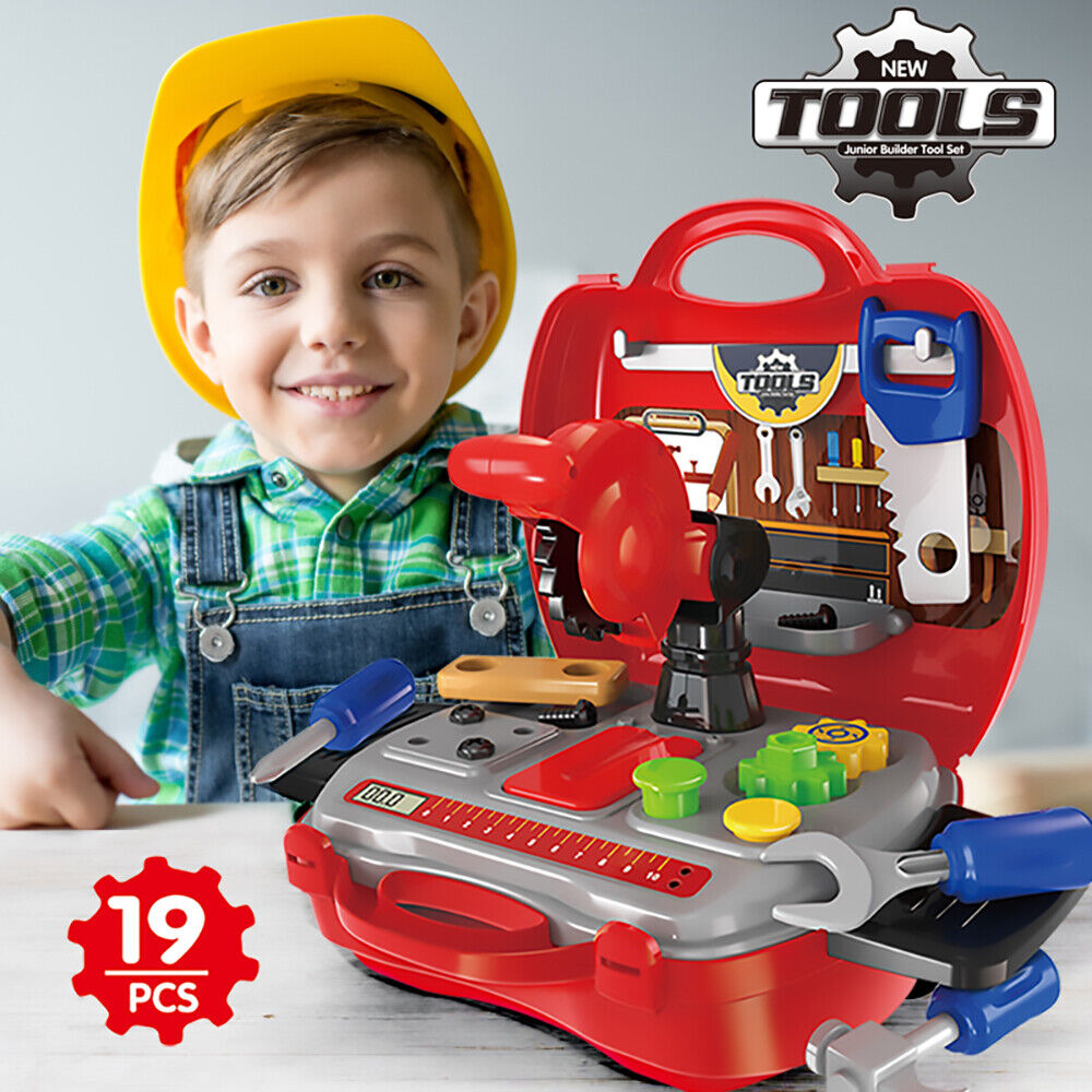 Toddler Boy Toy Tool Box Educational Pretend Play Girl Kids Learning Game 25 Pcs 2