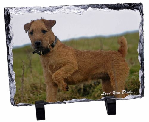 Lakeland Terrier 'Love You Dad' Photo Slate Christmas Gift Ornament, DAD73SL