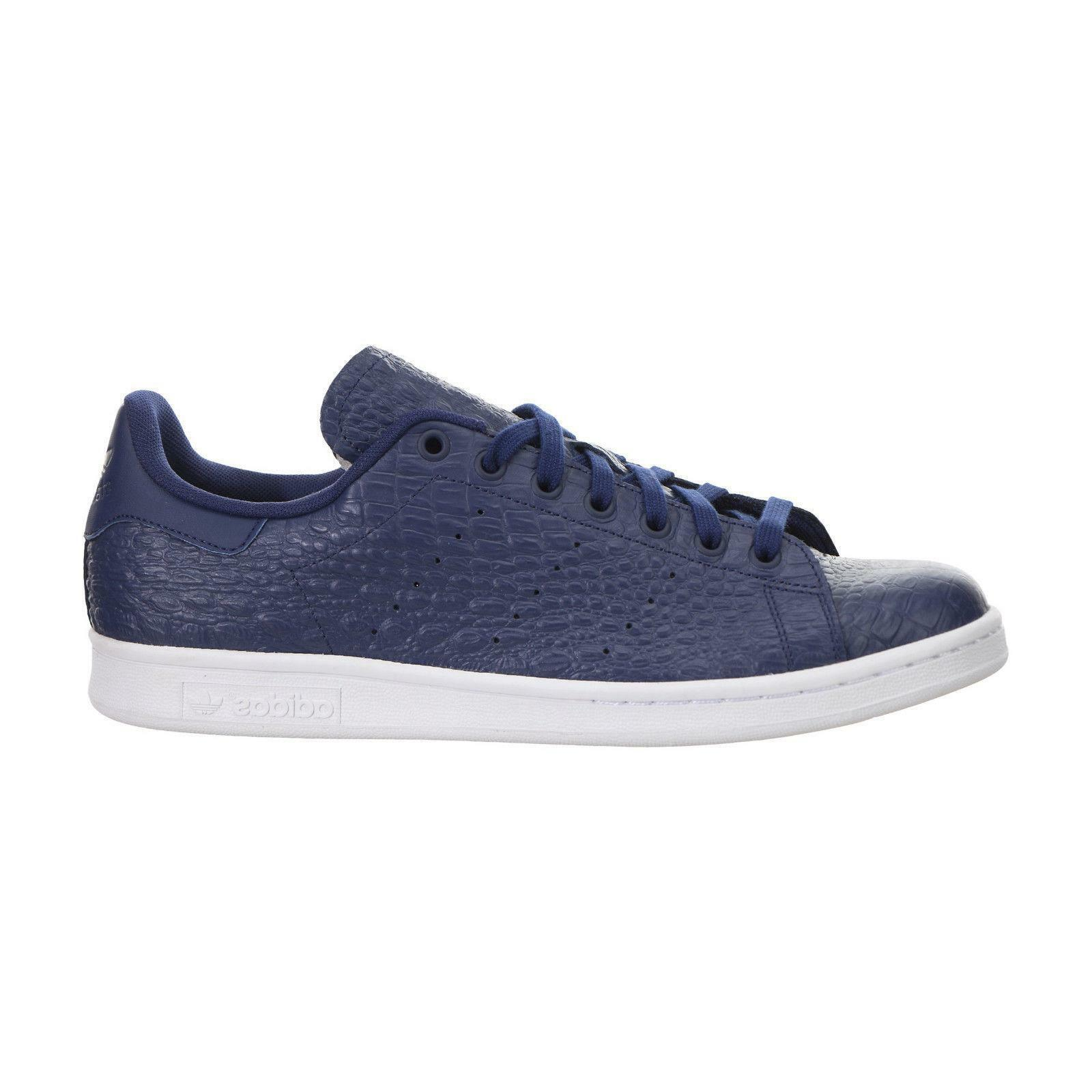 Da Uomo ADIDAS STAN SMITH Blu Scuro in Pelle Casual Scarpe Trainer AQ2730