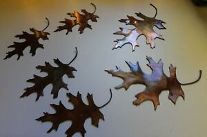 METAL-OAK-LEAVES-6-COPPER-BRONZE-PLATED-BY-HGMW