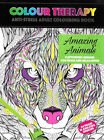 Adult Colouring Colour Therapy Anti Stress 64 Pages A4 Book Animals