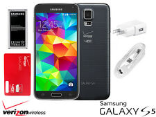 Samsung Galaxy S5 SM-G900V-16GB-Verizon+GSM Unlocked+Free Verizon Prepaid Sim