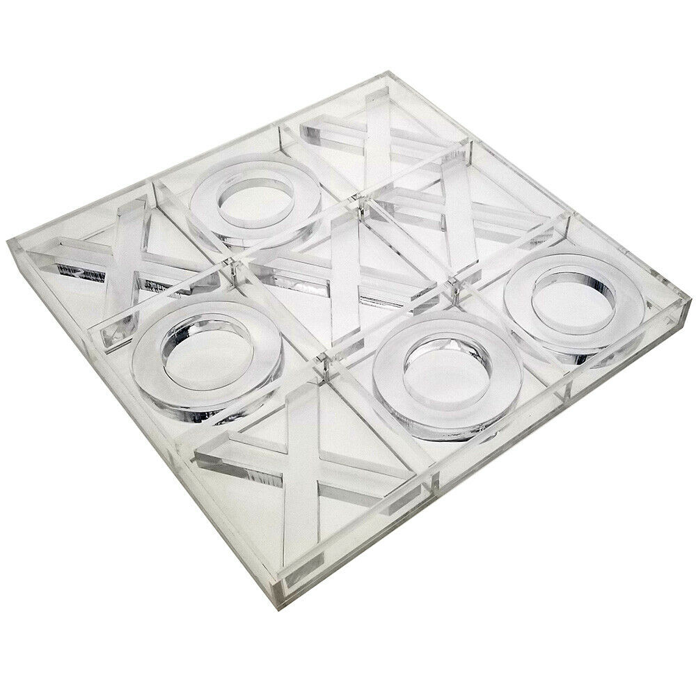 NOUVEAU  ondisplay Deluxe Acrylique Tic Tac Toe Set-Luxe Cristal Board Game