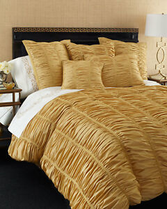 100 Faux Silk Puckered Duvet Cover In King Size 110x102 By Neiman