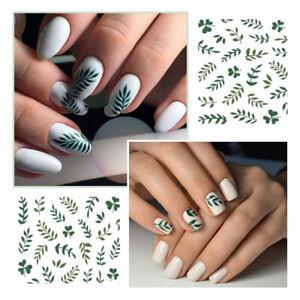 3D-Nagel-Aufkleber-Nail-Stickers-Flower-Leaf-Transfer-Decals-Nail-Art-Dekoration