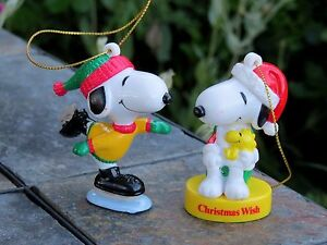 Snoopy And Woodstock Christmas Ornaments.Details About Lot Set Of 2 Vintage Hallmark Peanuts Snoopy Woodstock Christmas Ornaments