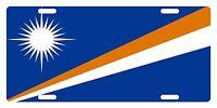 Marshall Island Flag Custom License Plate National Emblem Original Version