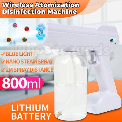 Wireless Nano Blue Light Steam Spray Disinfection Sprayer Gun USB charging USA