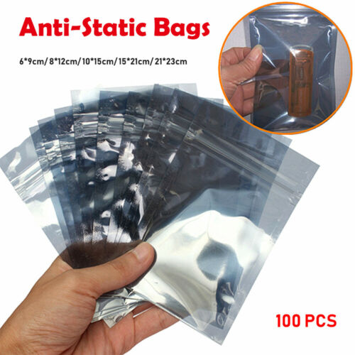 Details about  /ESD Anti-Static Shielding Translucent Zip Lock Bags Available In Various Sizes