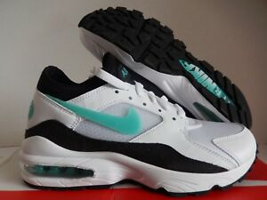 Details about MENS NIKE AIR MAX 93 WHITE SPORT TURQUOISE BLACK SZ 7 [306551 107]