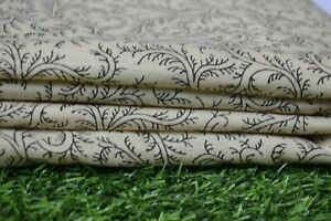 5-Yard-Cotton-Fabric-Hand-print-Indian-Handmade-Craft-Sewing-Material-Cotton