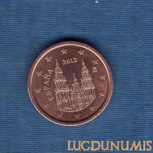 Espagne-2012-1-Centime-D-039-Euro-Piece-neuve-de-rouleau-Spain