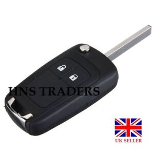NEW-2-Button-FLIP-Key-Case-Fob-for-Vauxhall-Opel-Astra-Insignia-logo-A54