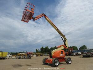 2011 JLG 600AJ 60' 4WD Diesel Boom Lift Man Aerial SkyPower Jib bidadoo