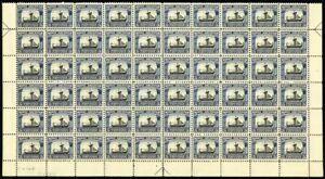 621-Mint-VF-NH-5-Block-of-60-C-V-De-B-Sideographer-039-s-Initials-Stuart-Katz