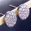 Luxury-925-Silver-White-Sapphire-Oval-Stud-Earrings-Shiny-Ladies-Wedding-Jewelry thumbnail 1