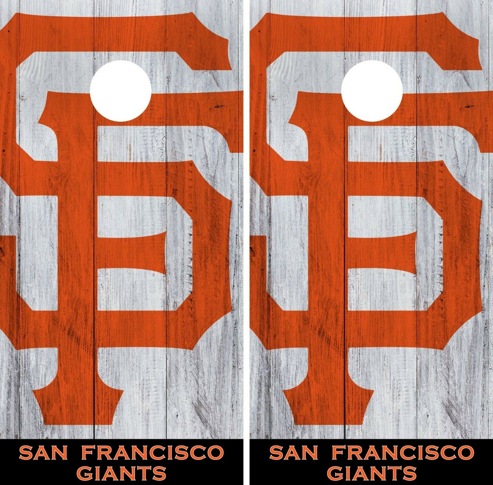 San Francisco Giant Cornhole Wrap MLB Logo Game Board Skin Set Vinyl Decal CO532