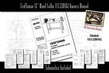 Craftsman 12 Wood Lathe 113228162 Service Owners Manual Parts List