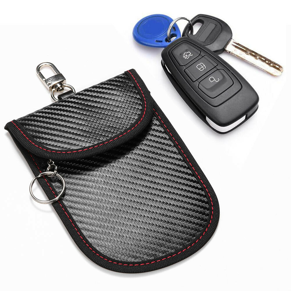 Remote Entry Smart Fob Case Signal Blocking with Durable High Quality PU Leather