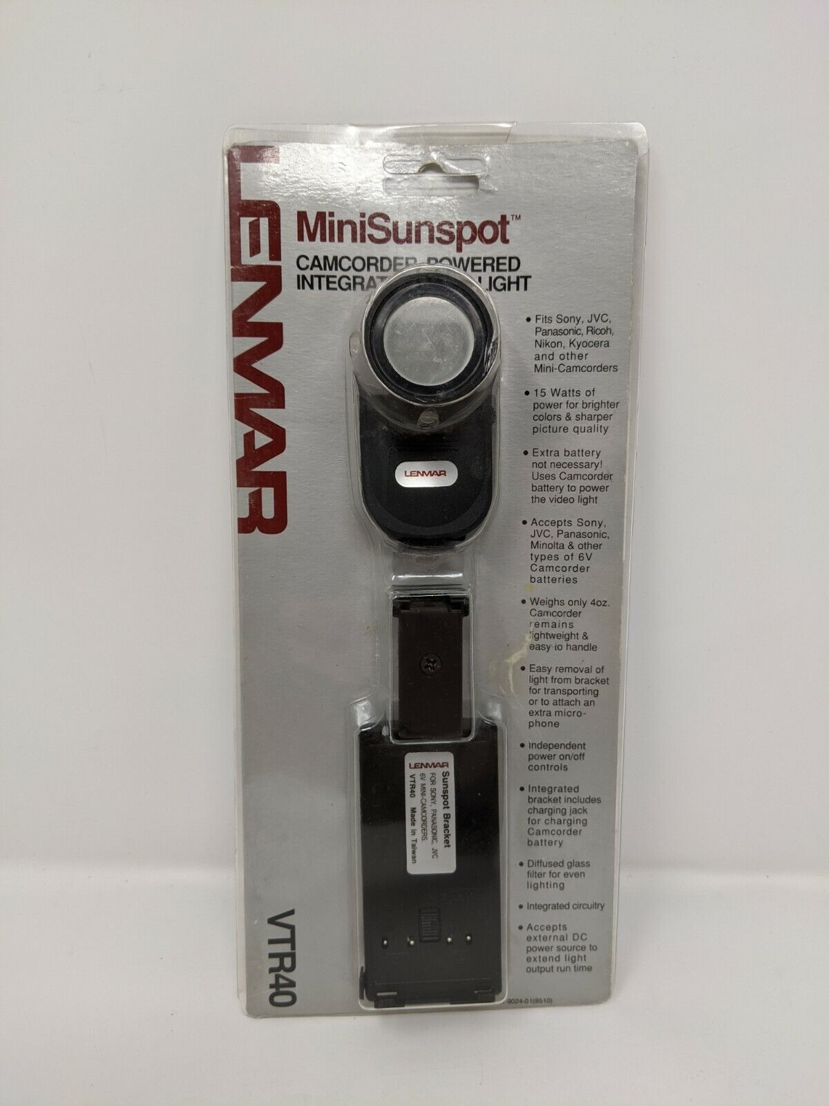 Lenmar MiniSunspot Camcorder-Powered Integrated Video Light VTR40