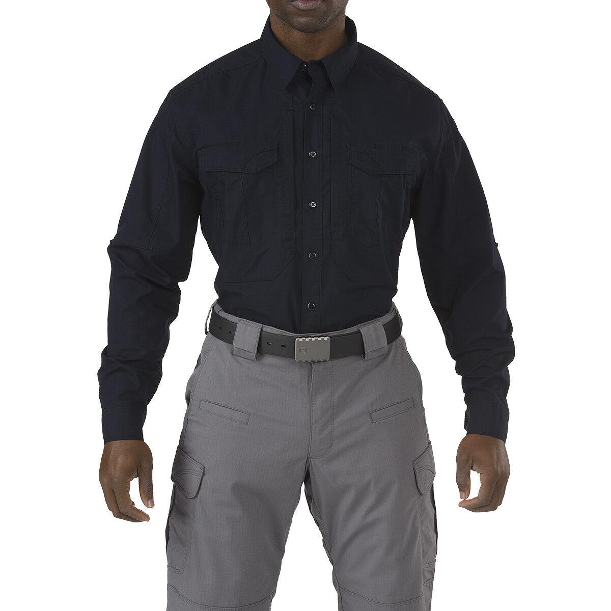 5.11 Stryke Marine Cadet Mens Shirt Police Long Sleeved Uniform Top Dark Navy
