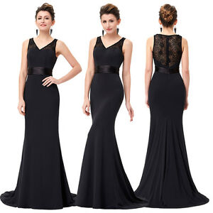 New-Lace-Long-Prom-Evening-Dress-Formal-Bridesmaid-Party-Cocktail-Gown-SIZE-4-18
