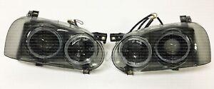 VW-Golf-Rabbit-MK3-Smoked-Hella-STYLE-Dark-Double-Projector-Euro-HEADLIGHTS-GTi