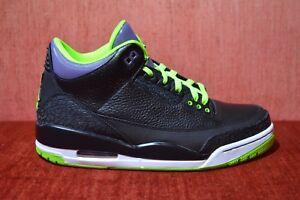 dd8f730f46ce Nike Air Jordan 3 III Retro Joker Black Electric Green-Purple 136064 ...