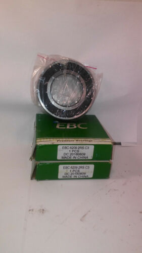 ***MAKE OFFER*** 2 NEW EBC 6209 2RS C3 RUBBER SEAL BEARINGS NIB !!FREE CD!