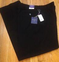 The Savile Row Co. London Navy Flat Front Dress Pants 36 X 32