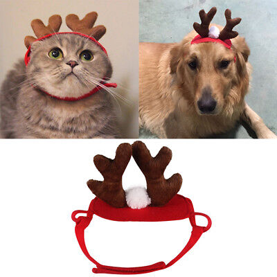 Puppy Dog Merry Christmas Deer Cute Hat Costume Cap Santa Decals Gift Decor