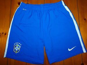 BRAZIL NATIONAL TEAM 2012/2013 AWAY FOOTBALL SHORTS JERSEY NIKE SIZE XL ADULT