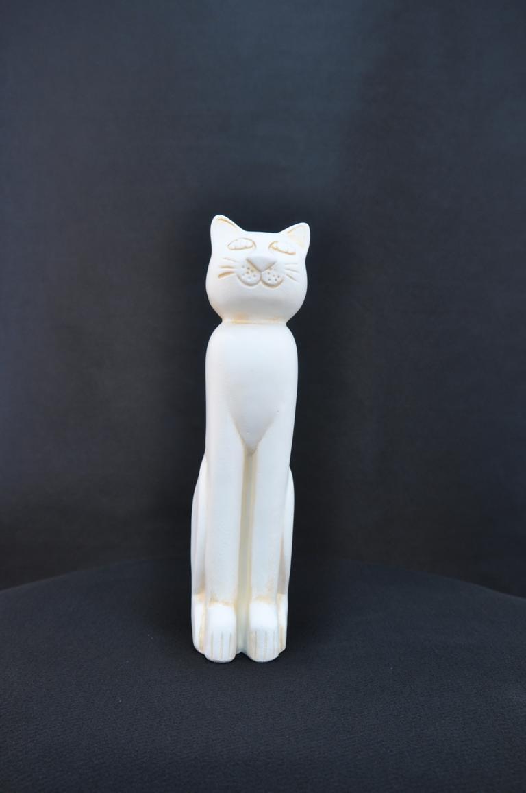 42cm XXL Design Katze Dekoration Figur Skulptur Acryl Deko Statue Figuren Neu