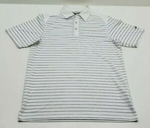 Mens-Callaway-Opti-Dri-100-Polyester-Short-Sleeve-Golf-Striped-Polo-Large-L