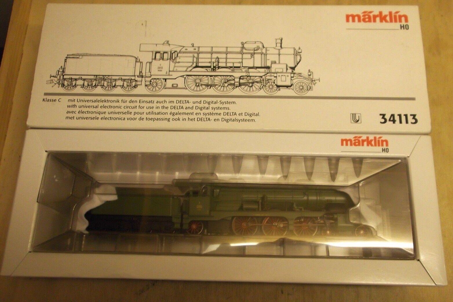 Märklin h0 34113 würtembergische traino Tenderlok Classe C DELTA Digital in scatola originale