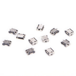 10X-Micro-USB-5pin-B-type-Female-Connector-For-Connector-5-pin-Charging-Sock-dm
